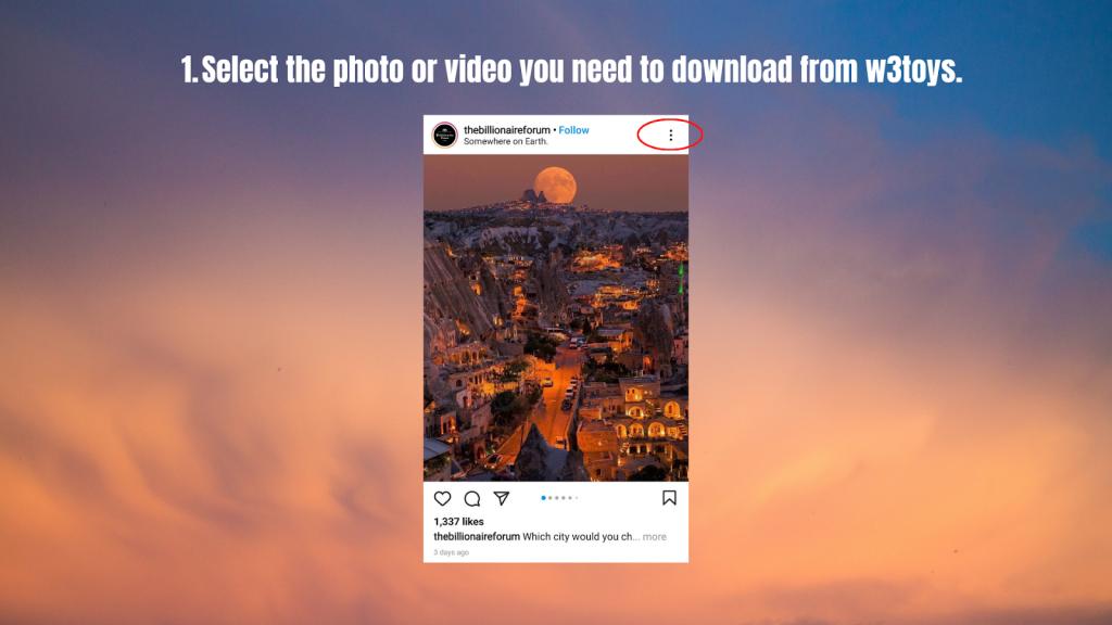 Select Instagram post
