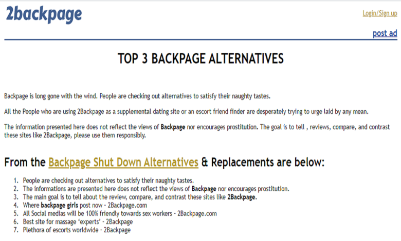 Backpage Classified Ads